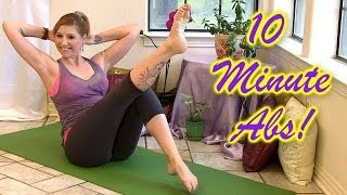 10 Min Six-Pack Abs! How to At Home Workout For Beginners For Women & Men - Cindie Corbin Yoga