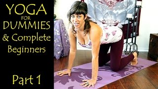 Yoga For Dummies & Complete Beginners Part 1 Relaxation & Flexibility Stretching At Home Workout